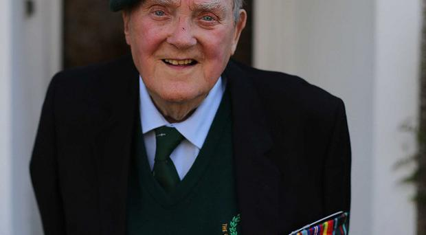 Pat Gillen, 89, who was among the first wave of troops to invade Sword beach in Normandy on June 6 1944 pictured at his home in Cork