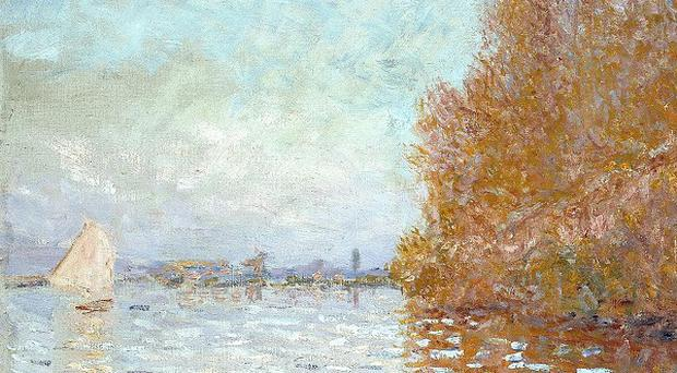 Claude Monet's Argenteuil Basin With A Single Sailboat has been restored after being damaged by a member of the public