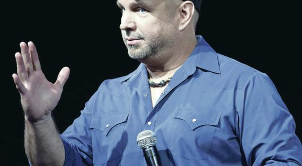 Garth Brooks at the Press conference yesterday