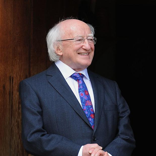 Irish President Michael D Higgins honoured Ireland's war dead at a ceremony at a former home for old soldiers