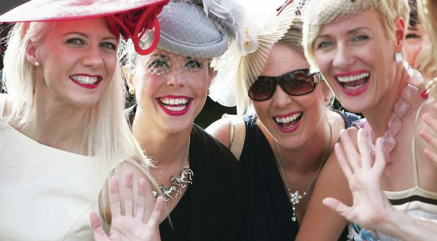 Race-goers enjoy the Galway Festival at Galway Racecourse