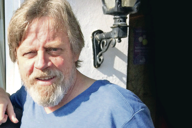 Mark Hamill outside the Butler Arms Hotel in Waterville, Co Kerry, where he has been staying while filming the new Star Wars movie