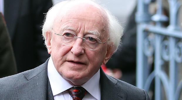 President Michael D Higgins has opened part of the new Thornton Heights estate in Inchicore, Dublin