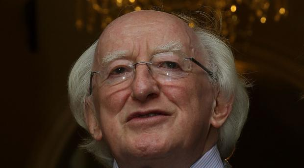 President Michael D. Higgins arrives at the IIEA to speak on the topic: 'Towards a Europe of the Citizens - An Ethical Context for the Future of Europe', as part of The President of Ireland's Ethics Initiative.