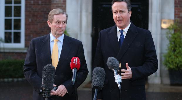 Taoiseach Enda Kenny and prime minister David Cameron are resuming talks at Stormont House