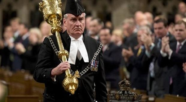 Sergeant-at-Arms Kevin Vickers, hailed as a hero for killing the gunman who stormed Canada's parliament last year, will be named ambassador to Ireland. (AP/The Canadian Press, Adrian Wyld)