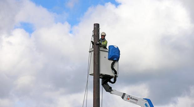 Engineers are seeking to restore power supplies after a storm