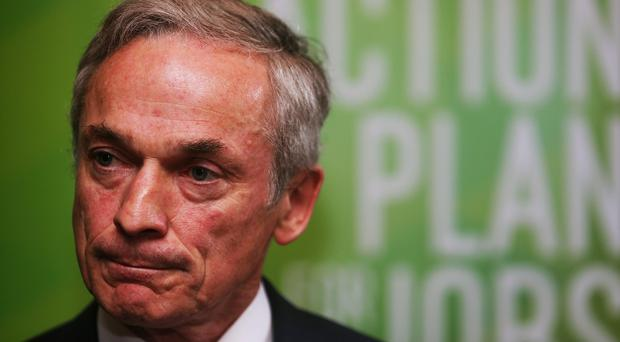 Jobs Minister Richard Bruton said the manufacturing sector has begun to pick up