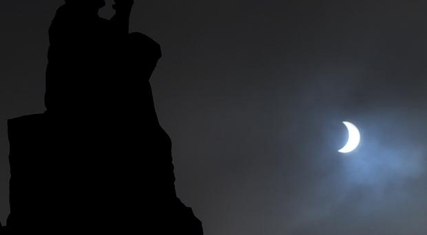 A view of the eclipse from Trinity College Dublin