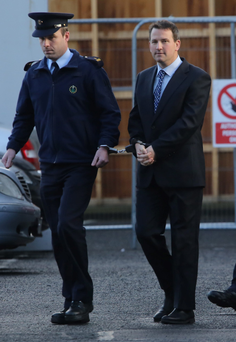 Graham Dwyer in handcuffs