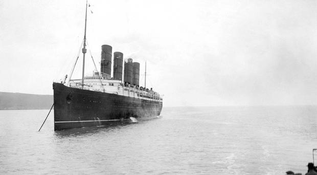 The RMS Lusitania was torpedoed on May 7 1915 by a German U-boat en route from New York to Liverpool and sank with the loss of 1,201 lives