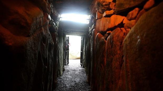 The entrance to Newgrange, which is among the symbolic sites brought to life in 3D