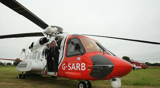 A Coast Guard helicopter took the boy from Waterford to Dublin