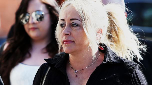 Gail O'Rorke arrives at Dublin Circuit Criminal Court, Dublin, where she went on trial in connection with the assisted suicide of MS sufferer Bernadette Forde