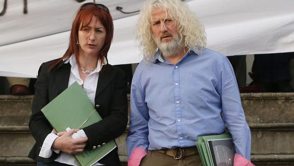 Independent TDs Clare Daly and Mick Wallace at Ennis District Court