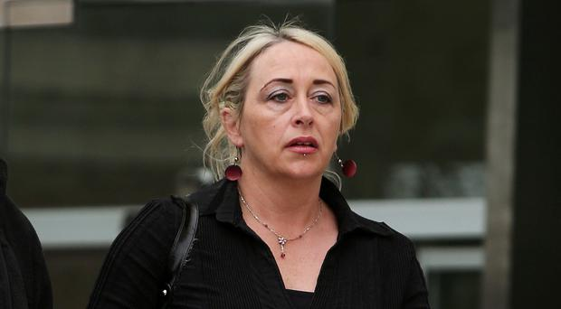 Gail O'Rorke leaves Dublin Circuit Criminal Court, where she is on trial in connection with the alleged assisted suicide of MS sufferer Bernadette Forde