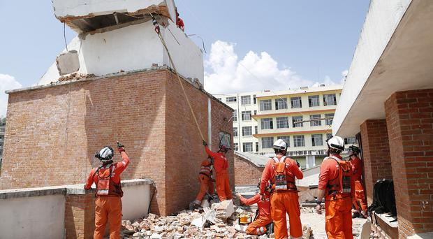 Aid workers face a race against time to airlift life-saving supplies from Ireland to previously cut-off areas of Nepal (Department for International Development (DFID/PA)
