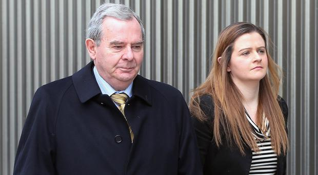 Ex-billionaire businessman Sean Quinn and his daughter Brenda