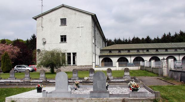 Kilnacrott Abbey in Cavan where the remains of convicted paedophile Fr Brendan Smyth are buried. Smyth's grave is on the extreme left with no headstone
