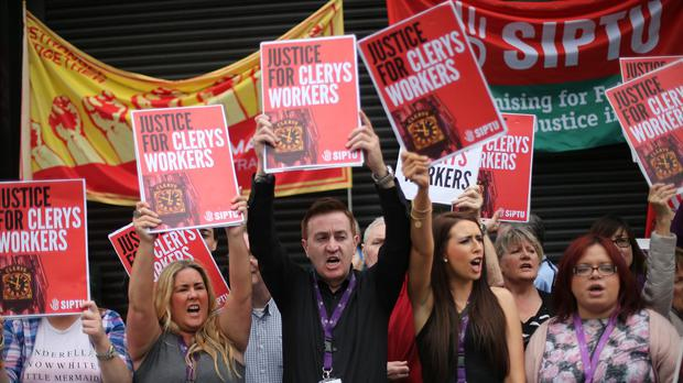 The closure of Clerys has sparked protests by the department store's axed staff