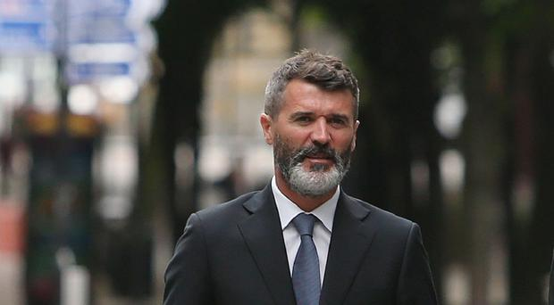 Roy Keane was not amused by the billboard