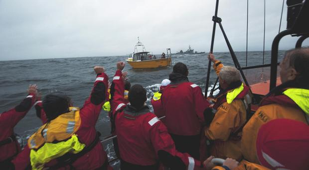 The Baltimore RNLI lifeboat crew have been taking part in the search