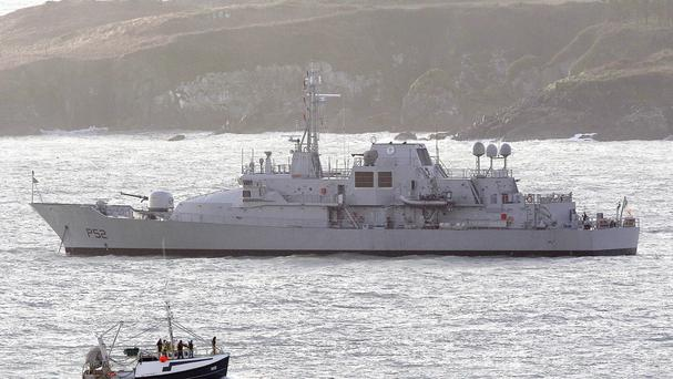 The Irish Naval vessel LE Niamh will join up with operations to rescue migrants