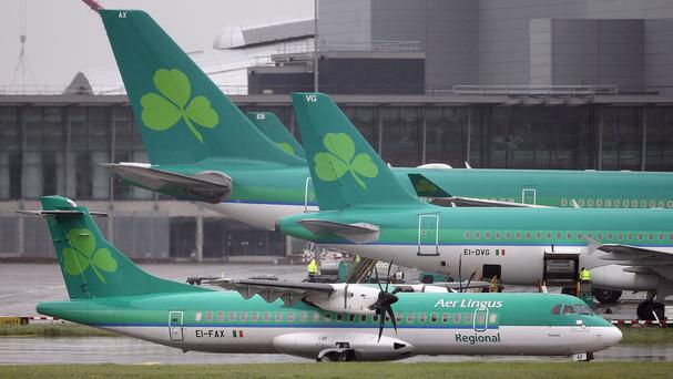 Aer Lingus jets at Dublin Airport