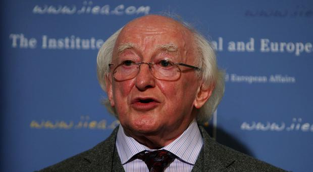 Michael D Higgins was in Paris to attend the Summit of Consciences for the Climate