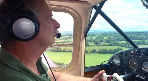 Howard Cox, 67, from Devon, was killed in a plane crash in Ireland when he was flying a type of homebuilt mini-jet immortalised by a James Bond film.