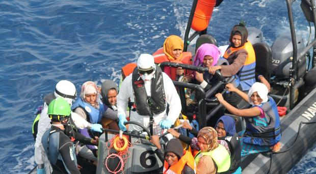 The Irish Navy has now rescued more than 1,000 people in the past three weeks
