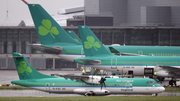 Passengers On Board Aer Lingus Flight From Manchester To