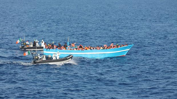 The IOM warned the death toll of migrants trying to cross the Mediterranean this year had reached 2,000 (Irish defence Forces/PA)