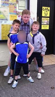 Jonathan O'Driscoll with his brothers, twins Thomas (left) and Patrick