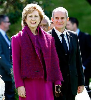 Mary McAleese with her husband Martin during an official visit to New Zealand in 2007