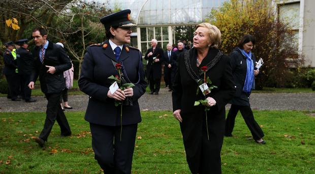 Frances Fitzgerald, right, told Garda Commissioner Noirin O'Sullivan, to investigate any new evidence about the Provisional IRA