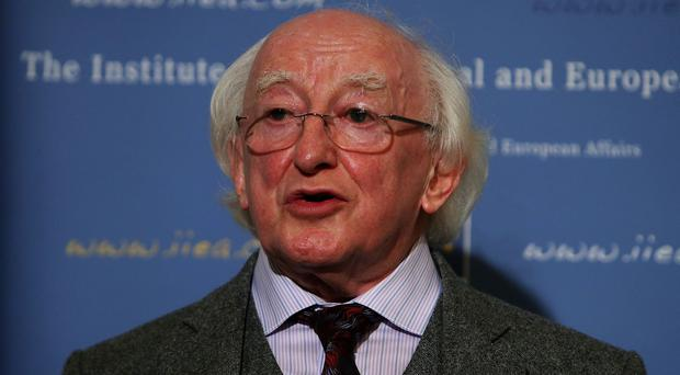 Michael D Higgins made a plea for ordinary people to offer at least shelter and security to refugees
