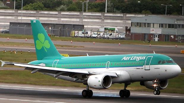 A 24-year-old suffered a violent seizure during the flight, shortly after it had left Lisbon bound for Dublin