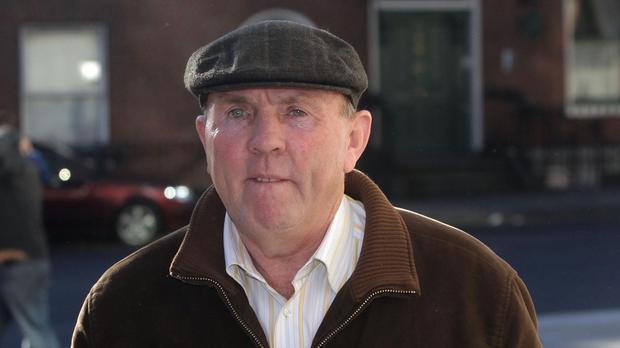 Thomas Slab Murphy leaves the Special Criminal Court in Dublin.