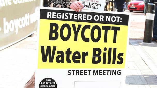 The charges imposed by Irish Water have sparked demonstrations