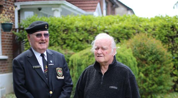 Pat O Mathuna (right) and William Mynes were not recognised for their bravery