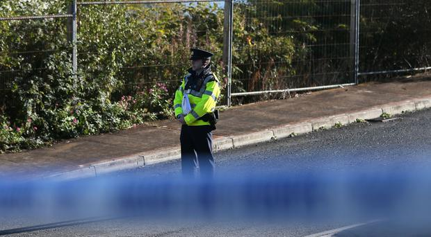 Garda close to the scene of the killing in Omeath, Co Louth