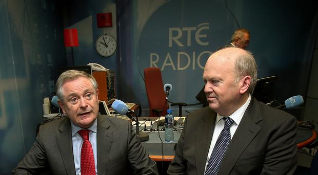 Michael Noonan (right) and Brendan Howlin are poised to unveil the Budget