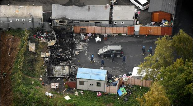 The scene of the tragic fire at Glenmaluck Road, Carrickmines