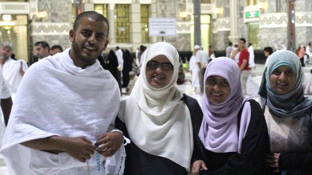 Ibrihim Halawa with sisters Fatima, Omaima and Somaia.