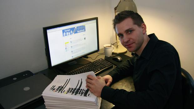 Max Schrems has been locked in a lengthy battle with Facebook (Europe-V-Facebook.org/PA)