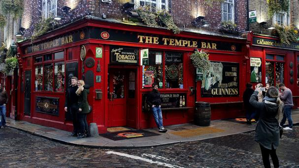 The Temple Bar in Dublin, as the city was named in a list of the world's top 10 cities to visit in 2016.