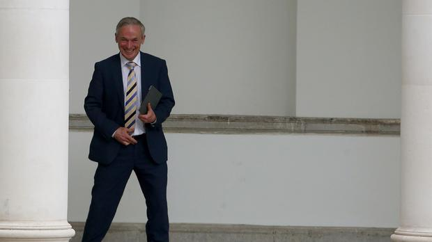 Richard Bruton is on a trade mission in the US