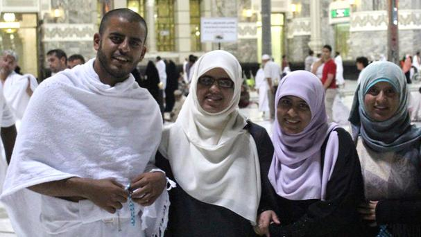 Ibrahim Halawa with his sisters (Family handout/PA)