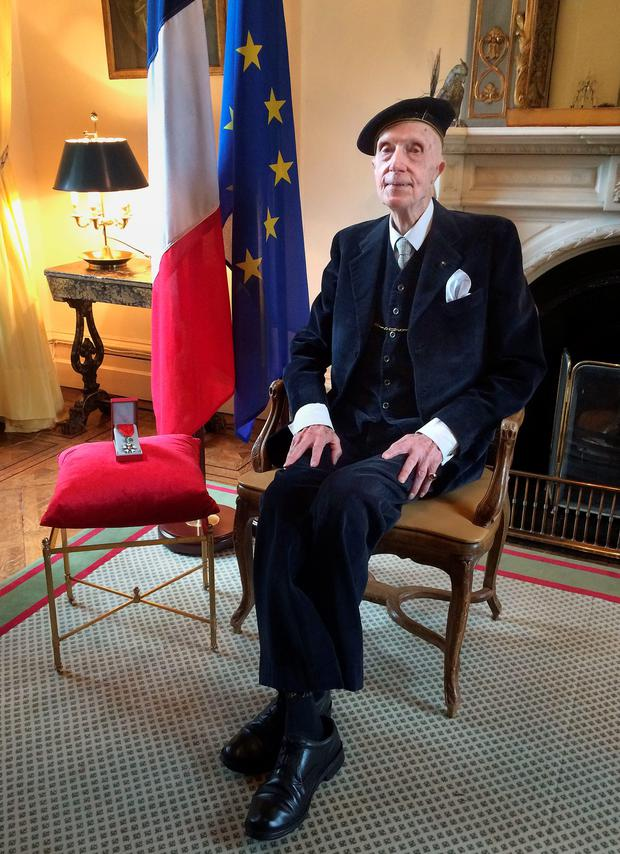 Sir John is honoured at the French embassy in Dublin